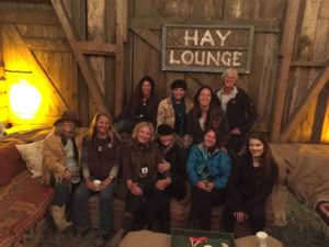 Our hard-working team finally takes a load off in the Hay Lounge